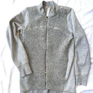 Lululemon shearling panel zip up jacket Rare